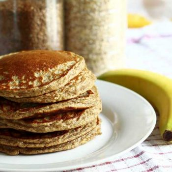 Fresh stack of pancakes, also available in gluten free