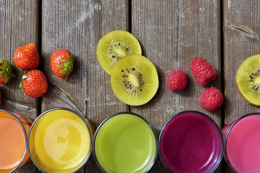 Fruit Smoothie Lineup