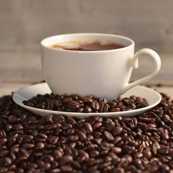 Coffee bean with Coffee cup