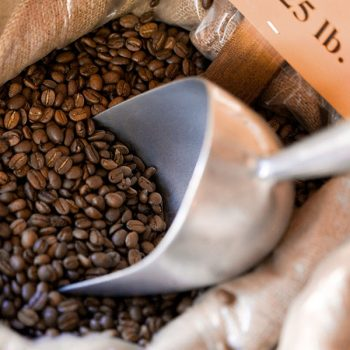 Frisco coffee beans with scoop